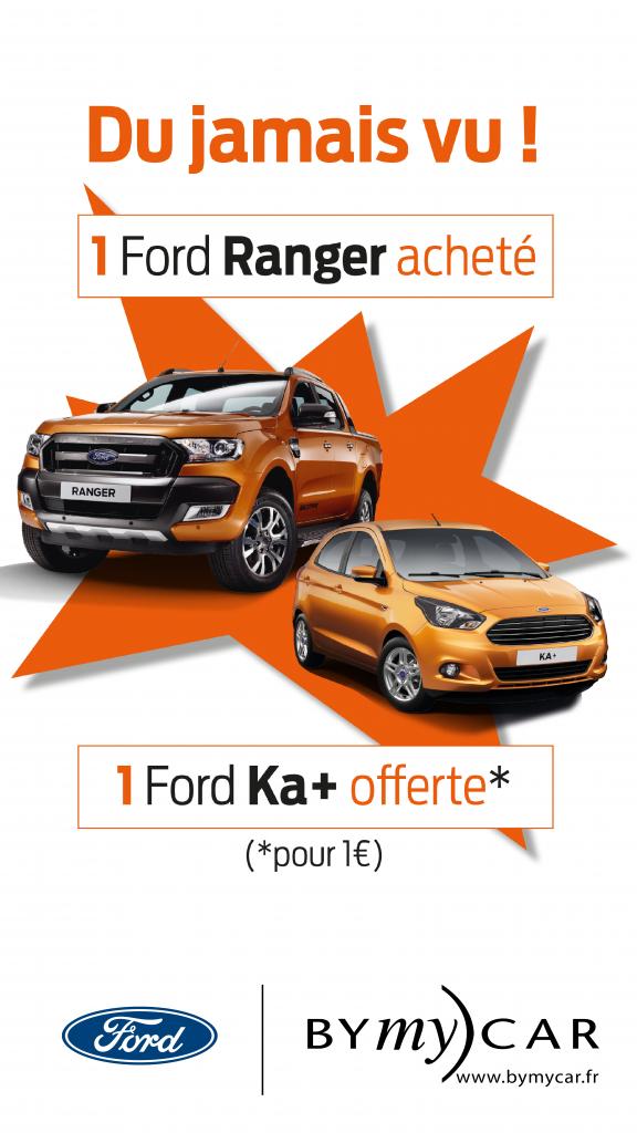 1 Ford Ranger achetée 1 Ford Ka+ offerte pour 1 € de