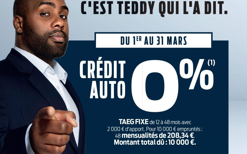 Ford days crédit auto à 0 %