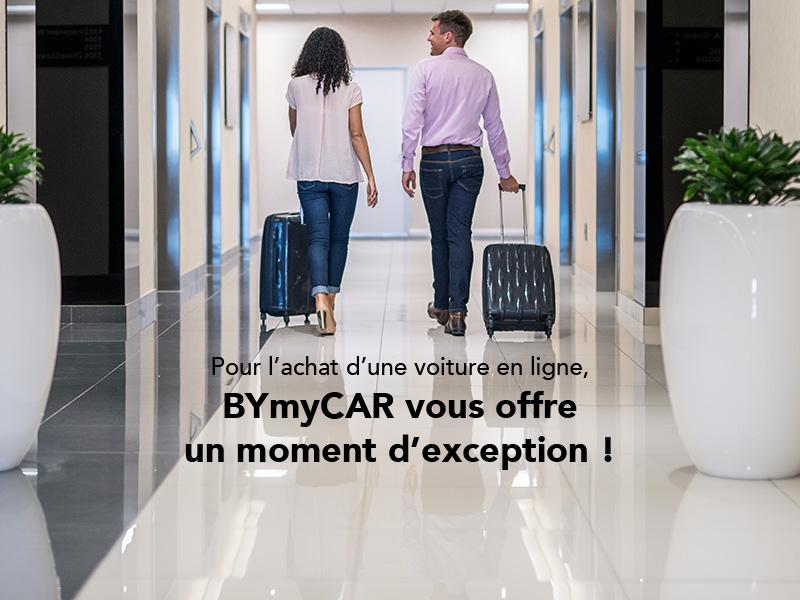 Une voiture achetée en ligne = 1 moment d'exception offert