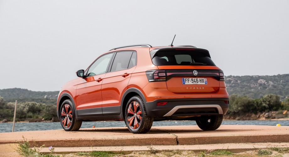 Arrière du Nouveau T-Cross Volkswagen