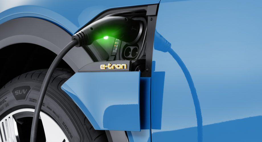 Recharge électrique d'un véhicule Audi